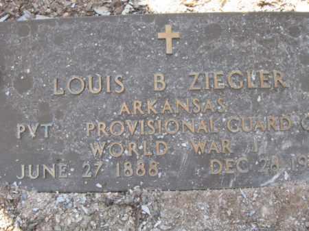 ZIEGLER (VETERAN WWI), LOUIS BENJAMIN - Garland County, Arkansas | LOUIS BENJAMIN ZIEGLER (VETERAN WWI) - Arkansas Gravestone Photos