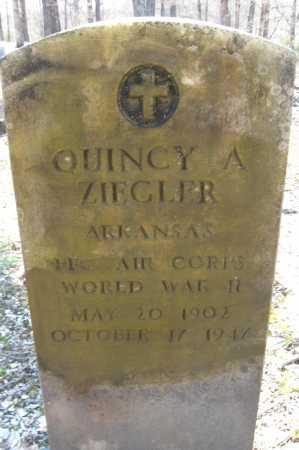 ZIEGLER (VETERAN WWII), QUINCY A. - Garland County, Arkansas | QUINCY A. ZIEGLER (VETERAN WWII) - Arkansas Gravestone Photos