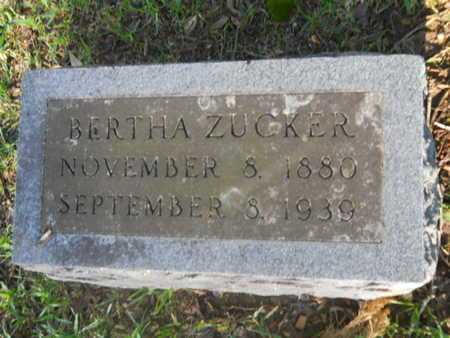 ZUCKER, BERTHA - Garland County, Arkansas | BERTHA ZUCKER - Arkansas Gravestone Photos
