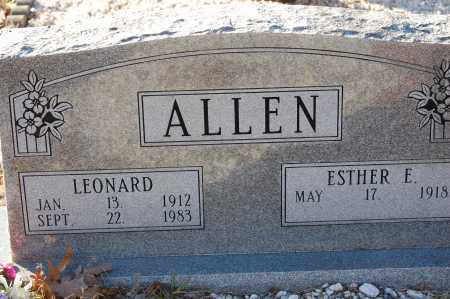 ALLEN, LEONARD - Grant County, Arkansas | LEONARD ALLEN - Arkansas Gravestone Photos