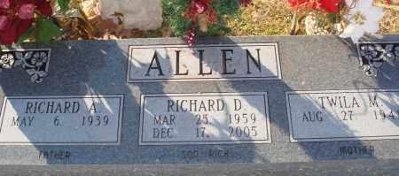 ALLEN, RICHARD D - Grant County, Arkansas | RICHARD D ALLEN - Arkansas Gravestone Photos