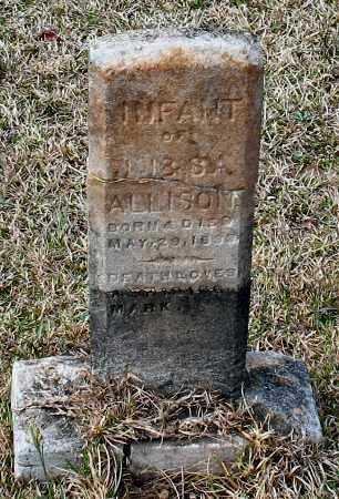 ALLISON, INFANT - Grant County, Arkansas   INFANT ALLISON - Arkansas Gravestone Photos