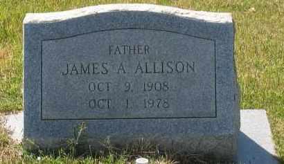 ALLISON, JAMES A - Grant County, Arkansas | JAMES A ALLISON - Arkansas Gravestone Photos