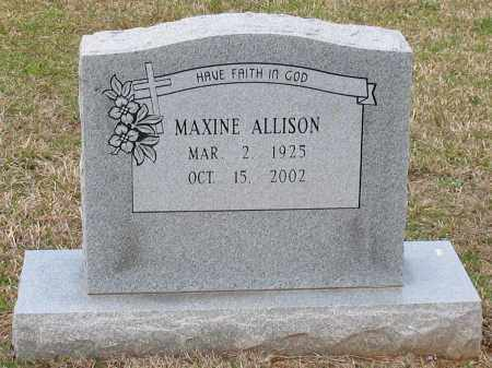 ALLISON, MAXINE - Grant County, Arkansas | MAXINE ALLISON - Arkansas Gravestone Photos