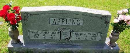 APPLING, OLLIE D - Grant County, Arkansas | OLLIE D APPLING - Arkansas Gravestone Photos