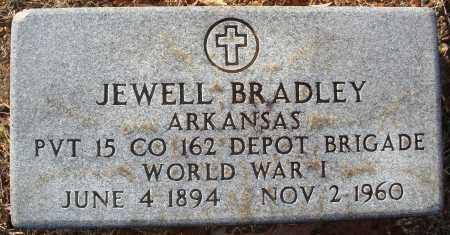 BRADLEY (VETERAN WWI), JEWELL - Grant County, Arkansas | JEWELL BRADLEY (VETERAN WWI) - Arkansas Gravestone Photos