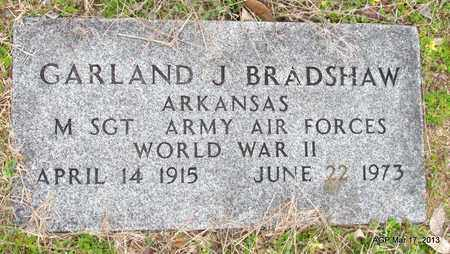 BRADSHAW (VETERAN WWII), GARLAND J - Grant County, Arkansas | GARLAND J BRADSHAW (VETERAN WWII) - Arkansas Gravestone Photos