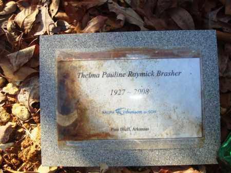 BRASHER, THELMA PAULINE - Grant County, Arkansas   THELMA PAULINE BRASHER - Arkansas Gravestone Photos