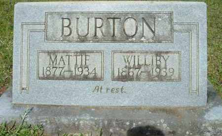 BURTON, MATTIE - Grant County, Arkansas | MATTIE BURTON - Arkansas Gravestone Photos