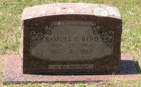 BYRD, SAMUEL DANIEL - Grant County, Arkansas | SAMUEL DANIEL BYRD - Arkansas Gravestone Photos