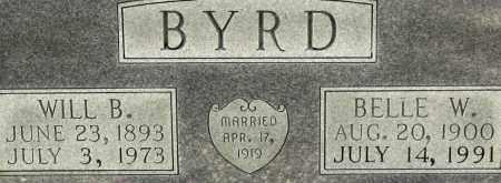 BYRD, BELLE W. (CLOSEUP) - Grant County, Arkansas | BELLE W. (CLOSEUP) BYRD - Arkansas Gravestone Photos