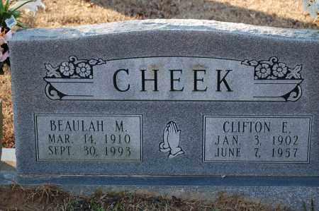 CHEEK, CLIFTON E - Grant County, Arkansas | CLIFTON E CHEEK - Arkansas Gravestone Photos