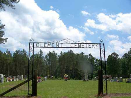 *CLEMENT CEMETERY ENTRANCE,  - Grant County, Arkansas |  *CLEMENT CEMETERY ENTRANCE - Arkansas Gravestone Photos