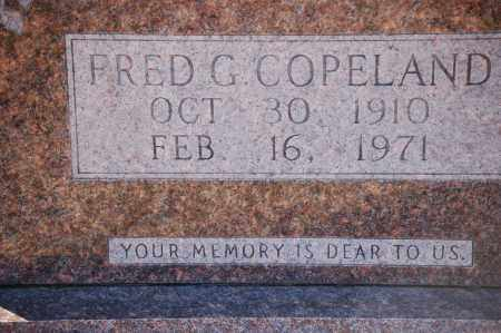 COPELAND, FRED G - Grant County, Arkansas   FRED G COPELAND - Arkansas Gravestone Photos