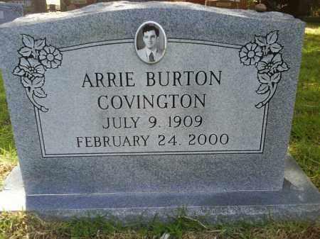 COVINGTON, ARRIE BURTON - Grant County, Arkansas | ARRIE BURTON COVINGTON - Arkansas Gravestone Photos