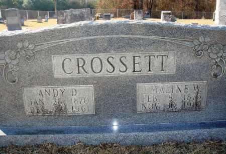 CROSSETT, ANDY D - Grant County, Arkansas | ANDY D CROSSETT - Arkansas Gravestone Photos