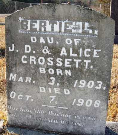 CROSSETT, BERTIE L - Grant County, Arkansas | BERTIE L CROSSETT - Arkansas Gravestone Photos