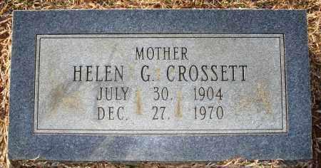 CROSSETT, HELEN G - Grant County, Arkansas | HELEN G CROSSETT - Arkansas Gravestone Photos
