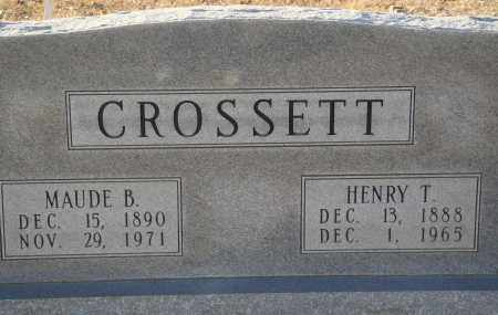 CROSSETT, MAUDE B - Grant County, Arkansas | MAUDE B CROSSETT - Arkansas Gravestone Photos
