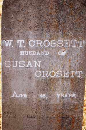 CROSSETT, W. T. - Grant County, Arkansas   W. T. CROSSETT - Arkansas Gravestone Photos