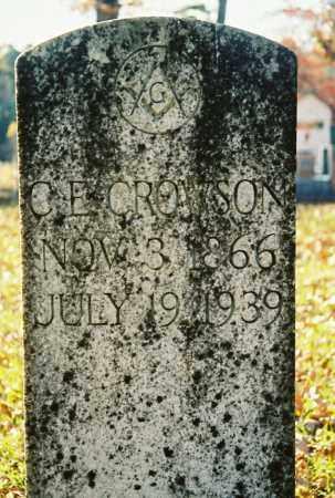 CROWSON, C.E. - Grant County, Arkansas | C.E. CROWSON - Arkansas Gravestone Photos