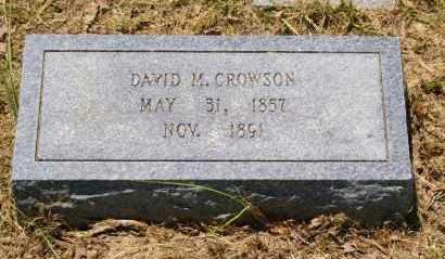 CROWSON, DAVID M. - Grant County, Arkansas | DAVID M. CROWSON - Arkansas Gravestone Photos