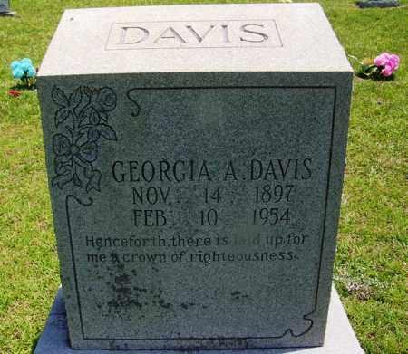 DAVIS, GEORGIA A - Grant County, Arkansas | GEORGIA A DAVIS - Arkansas Gravestone Photos