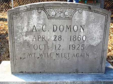 DOMON, A. C. - Grant County, Arkansas | A. C. DOMON - Arkansas Gravestone Photos