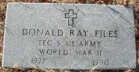 FILES (VETERAN WWII), DONALD RAY - Grant County, Arkansas   DONALD RAY FILES (VETERAN WWII) - Arkansas Gravestone Photos