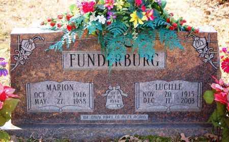 FUNDERBURG, MARION - Grant County, Arkansas | MARION FUNDERBURG - Arkansas Gravestone Photos
