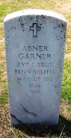 GARNER (VETERAN 1812), ABNER - Grant County, Arkansas | ABNER GARNER (VETERAN 1812) - Arkansas Gravestone Photos