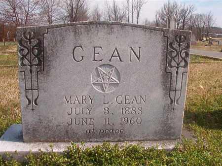 GEAN, MARY L - Grant County, Arkansas   MARY L GEAN - Arkansas Gravestone Photos