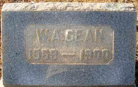 GEAN, W A - Grant County, Arkansas | W A GEAN - Arkansas Gravestone Photos