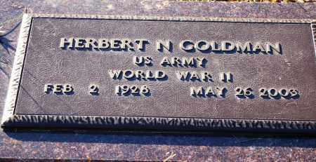 GOLDMAN (VETERAN WWII), HERBERT N - Grant County, Arkansas | HERBERT N GOLDMAN (VETERAN WWII) - Arkansas Gravestone Photos