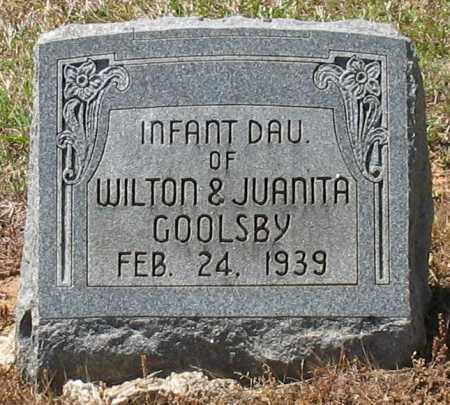 GOOLSBY, INFANT DAUGHTER - Grant County, Arkansas   INFANT DAUGHTER GOOLSBY - Arkansas Gravestone Photos