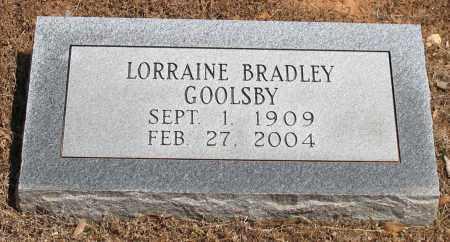 BRADLEY GOOLSBY, LORRAINE - Grant County, Arkansas | LORRAINE BRADLEY GOOLSBY - Arkansas Gravestone Photos