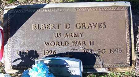 GRAVES (VETERAN WWII), ELBERT D - Grant County, Arkansas | ELBERT D GRAVES (VETERAN WWII) - Arkansas Gravestone Photos