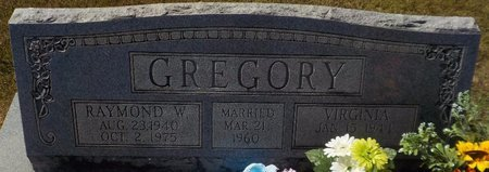 GREGORY, RAYMOND W - Grant County, Arkansas | RAYMOND W GREGORY - Arkansas Gravestone Photos