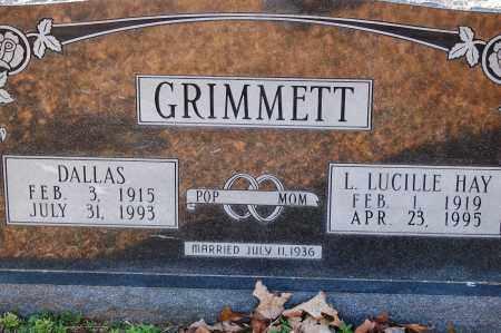 GRIMMETT, L LUCILLE - Grant County, Arkansas   L LUCILLE GRIMMETT - Arkansas Gravestone Photos