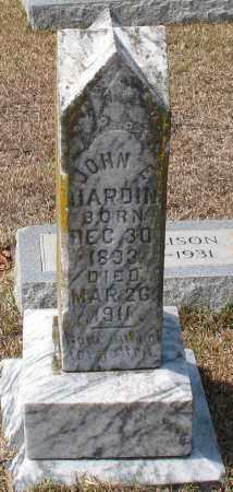 HARDIN, JOHN E - Grant County, Arkansas | JOHN E HARDIN - Arkansas Gravestone Photos