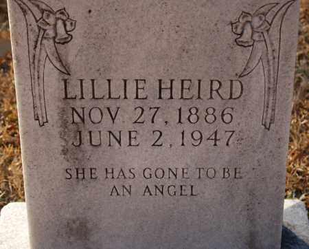 HEIRD, LILLIE - Grant County, Arkansas   LILLIE HEIRD - Arkansas Gravestone Photos