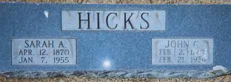 HICKS, JOHN GILBERT - Grant County, Arkansas | JOHN GILBERT HICKS - Arkansas Gravestone Photos