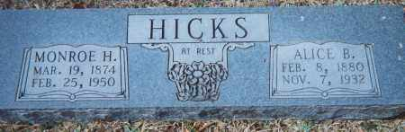 HICKS, ALICE BERTHA - Grant County, Arkansas | ALICE BERTHA HICKS - Arkansas Gravestone Photos