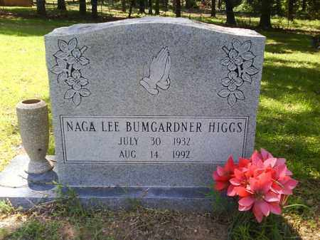 BUMGARDNER HIGGS, NAGA LEE - Grant County, Arkansas | NAGA LEE BUMGARDNER HIGGS - Arkansas Gravestone Photos