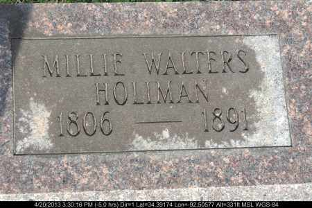 WALTERS HOLLIMAN, MILLIE - Grant County, Arkansas | MILLIE WALTERS HOLLIMAN - Arkansas Gravestone Photos