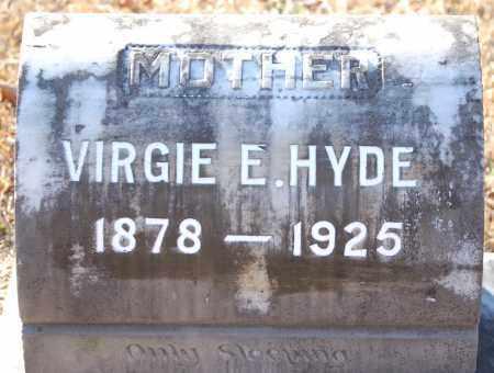 HYDE, VIRGIE E - Grant County, Arkansas | VIRGIE E HYDE - Arkansas Gravestone Photos