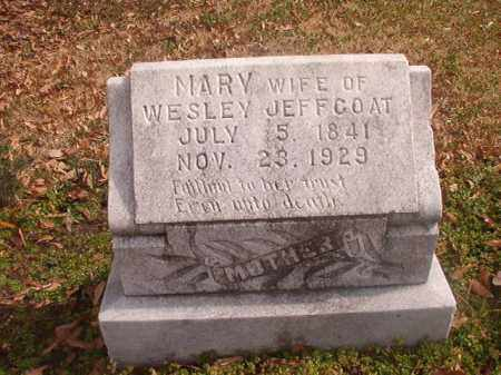 JEFFCOAT, MARY - Grant County, Arkansas | MARY JEFFCOAT - Arkansas Gravestone Photos