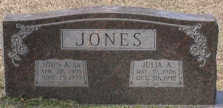 JONES, SR., JOHN A. - Grant County, Arkansas   JOHN A. JONES, SR. - Arkansas Gravestone Photos