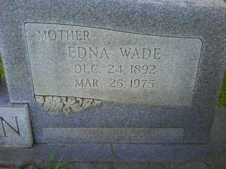 WADE JORDAN, EDNA (CLOSEUP) - Grant County, Arkansas | EDNA (CLOSEUP) WADE JORDAN - Arkansas Gravestone Photos