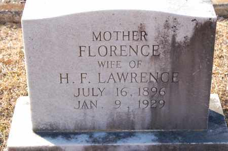 LAWRENCE, FLORENCE - Grant County, Arkansas | FLORENCE LAWRENCE - Arkansas Gravestone Photos